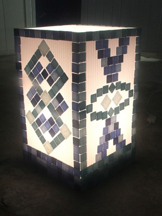 Mosaic Lamp - The Gallery at Chaloklum - Koh Phangan