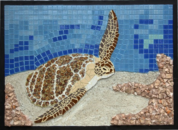 Green Turtle Mosaic-The Gallery at Chaloklum-Koh Phangan